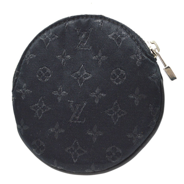 LOUIS VUITTON PORTE MONNAIE ROND COMTE DE FE COIN CASE Wallet MONOGRAM SATIN M92272