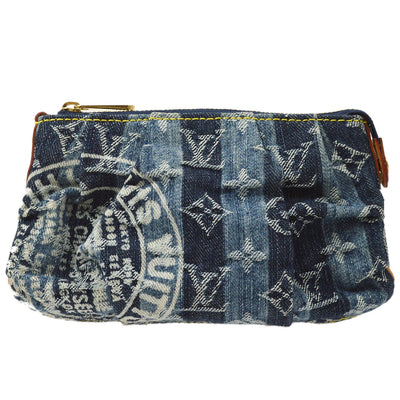 LOUIS VUITTON TROUSSE RAYE POUCH MONOGRAM DENIM M95335