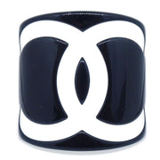 CHANEL Bangle Plastic Black White 05V