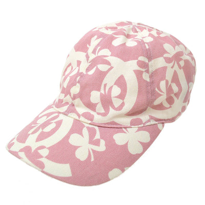 CHANEL Cap Hat Clover Pink #M Small Good