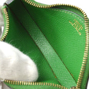 HERMES Cherry Coin Purse Wallet Green Courchevel
