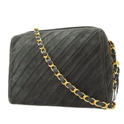CHANEL Fringe Single Chain Shoulder Bag Gray