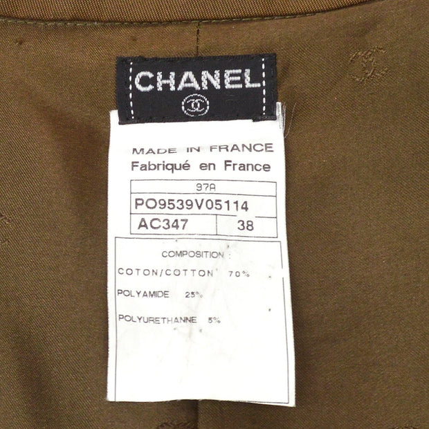 CHANEL Long Coat Brown 97A #38