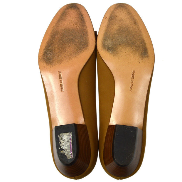 Salvatore Ferragamo Vara Bow Shoes Pumps Brown Suede #7 C