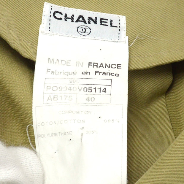 CHANEL Long Coat Beige 98C #40