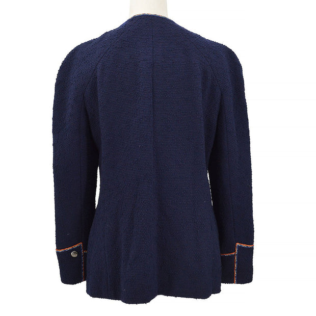 CHANEL Zip-Up Jacket Navy #44 97A