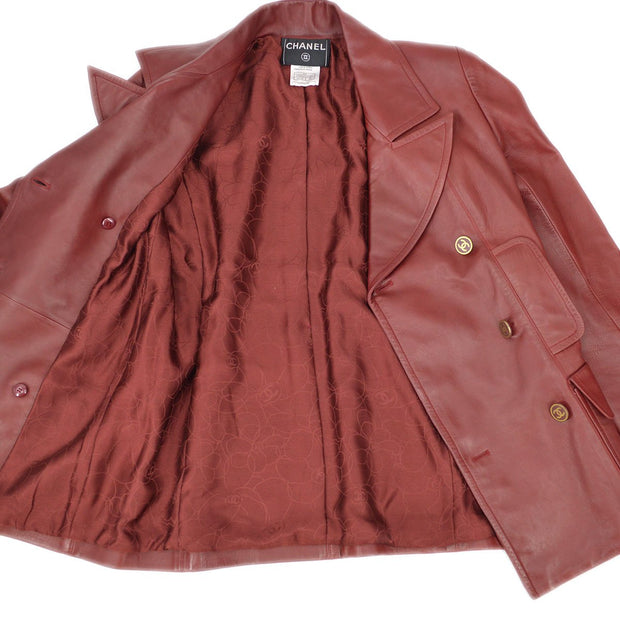 CHANEL Double Breasted Jacket Red 01A #38