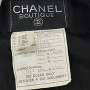 CHANEL 93A #38 Collarless Single Breasted Jacket Black