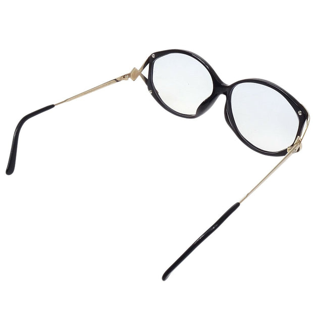 Christian Dior Reading Glasses Eye Wear Clear Black 58□12