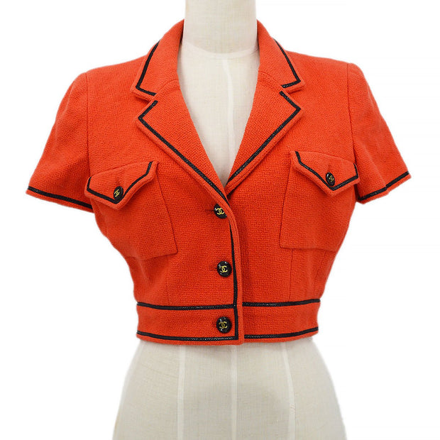 CHANEL P95 #40 Short Jacket Red