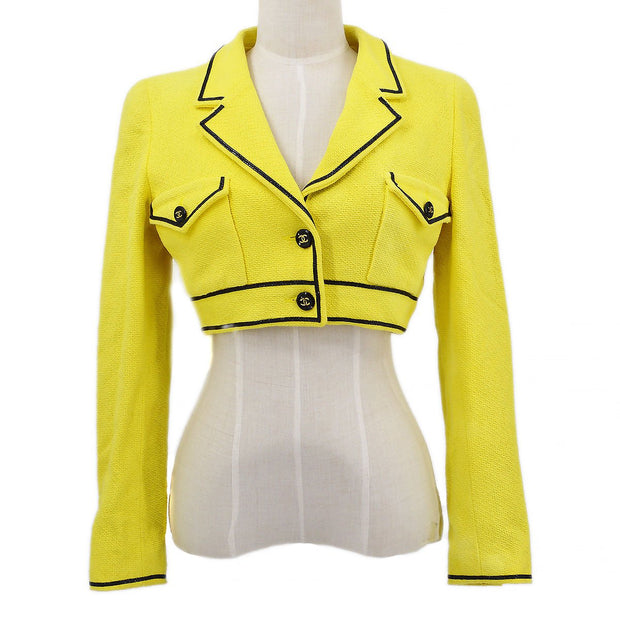 CHANEL 95P #40 Jacket Short Length Yellow