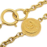 CHANEL Medallion Charm Chain Pendant Necklace Gold