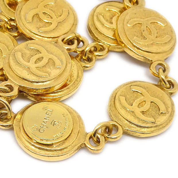CHANEL Medallion Gold Chain Bracelet