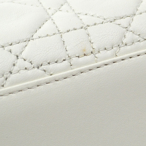 Christian Dior Lady Dior Cannage 2way Hand Shoulder Bag White