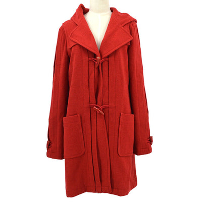CHANEL 06A #40 Hooded Coat Red