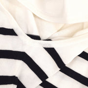 CHANEL #40 Striped Sleeveless Knit Tops White