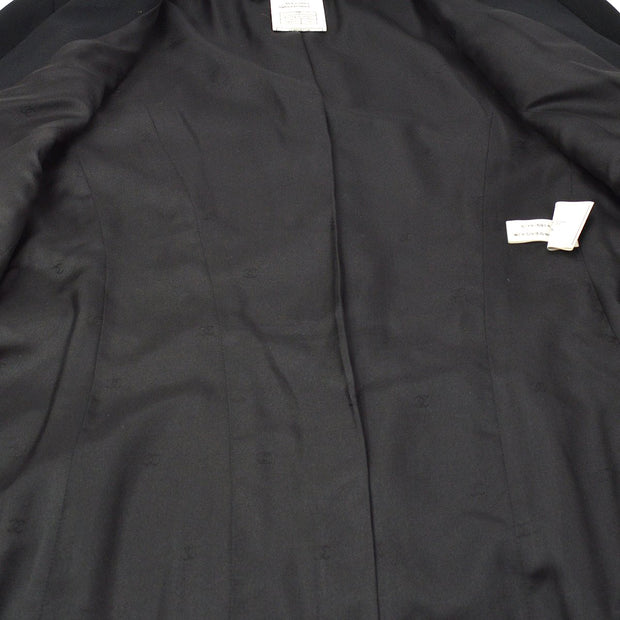 CHANEL 97P #38 Single Breasted Long Jacket Black