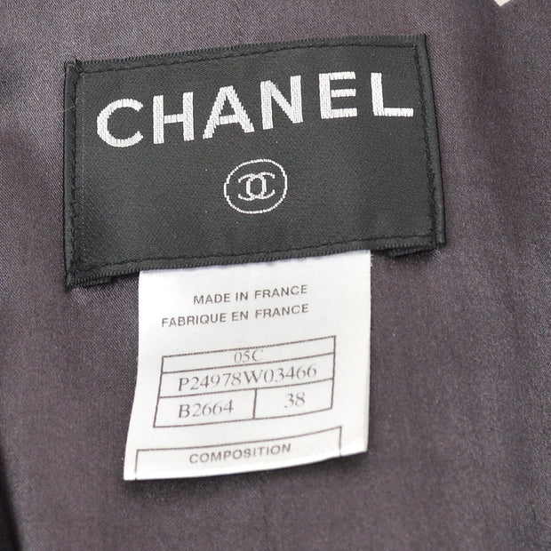 CHANEL 05C #38 Emblem Single Breasted Jacket Black