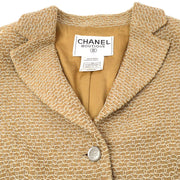 CHANEL 98P #38 Single Breasted Jacket Beige
