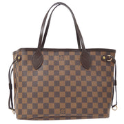 LOUIS VUITTON NEVERFULL PM HAND TOTE BAG EBENE DAMIER N41359