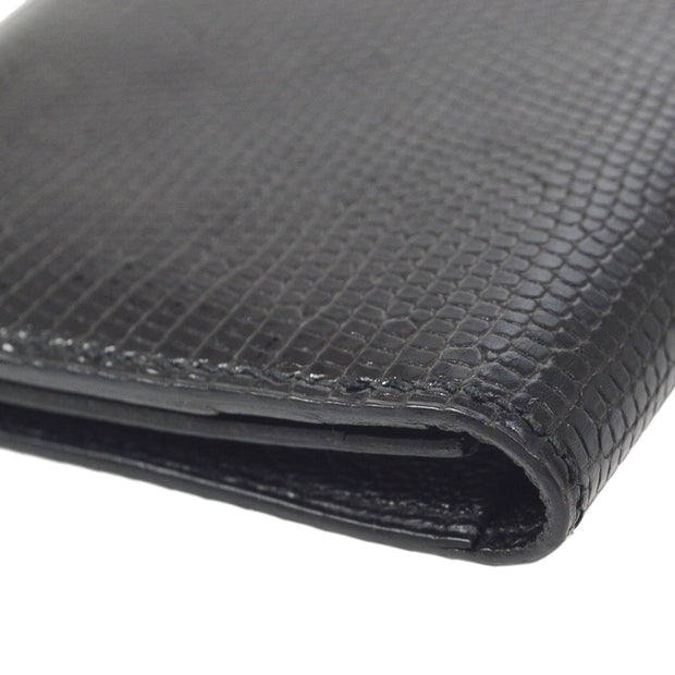 HERMES MC2 Fleming Long Wallet Black Lizard
