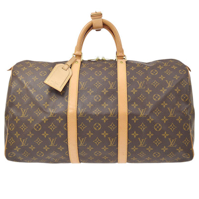 LOUIS VUITTON KEEPALL 50 TRAVEL DUFFLE HAND BAG MONOGRAM M41426
