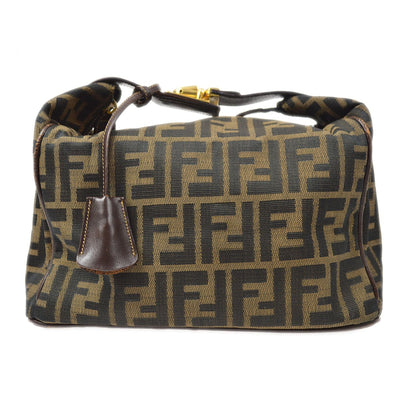 FENDI Zucca Pattern Mini Hand Bag Cosmetic Pouch Brown