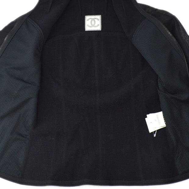 CHANEL Sports Line Jacket Black 04A #38