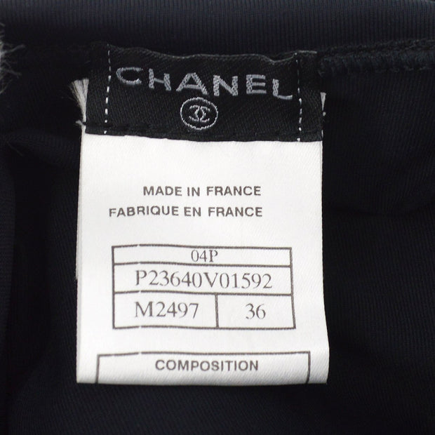 CHANEL Sports Line Short Sleeve Tops Black #36