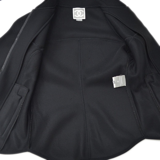 CHANEL Sports Line Jacket Black 03P #38
