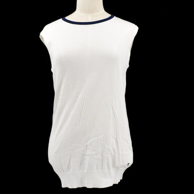 CHANEL Sleeveless Tops White #40