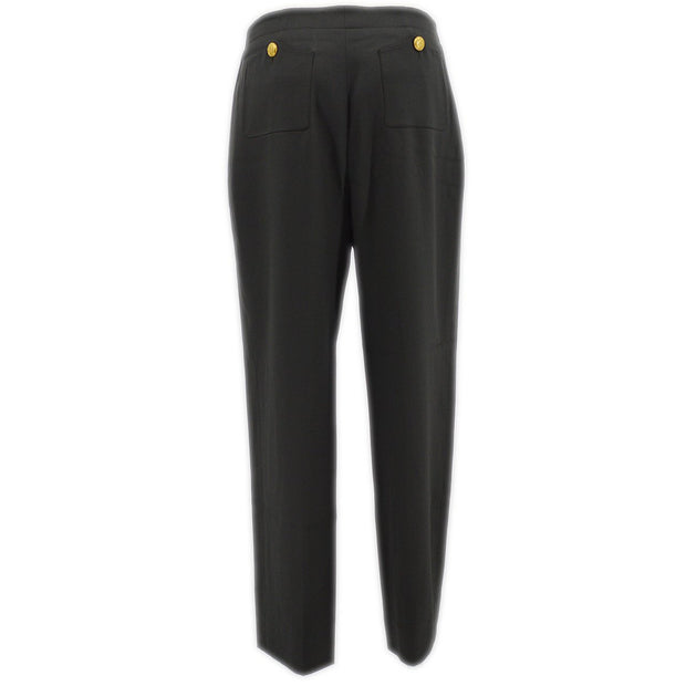 CHANEL 96A #40 Trousers Pants Gray Wool
