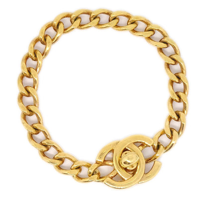 CHANEL Turnlock Gold Bracelet 96P