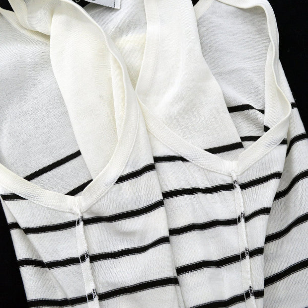 CHANEL Sleeveless Tops White #42