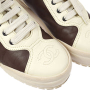 CHANEL Sneakers Shoes Brown #35