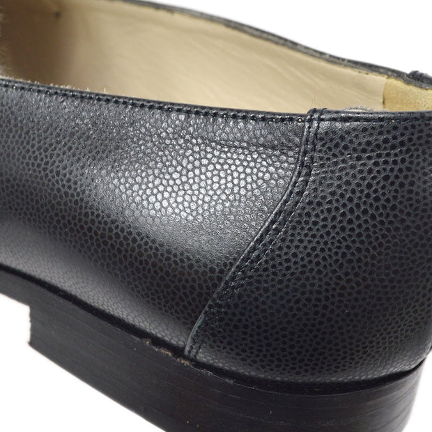 CHANEL Shoes Pumps Black Caviar Skin #35 1/2