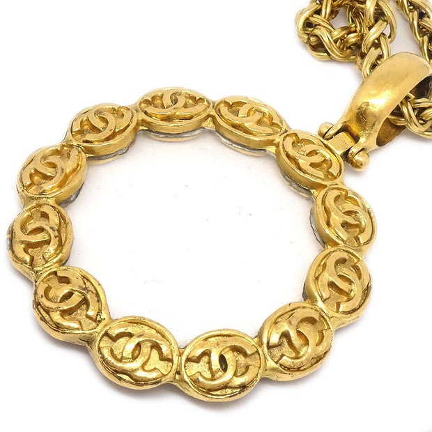 CHANEL Loupe Necklace Gold 95A