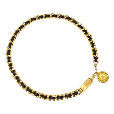 CHANEL Medallion Charm Gold-tone Chain Belt