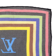 LOUIS VUITTON MINI CARRE SCARF MULTI COLOR BLACK SILK Small Good
