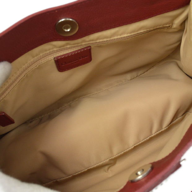 Christian Dior Street Chic Trotter Hand Bag Red Brown