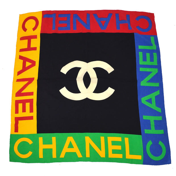 CHANEL Big Scarf Multicolor Small Good