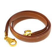 HERMES Shoulder Strap For Kelly Brown Courchevel Small Good
