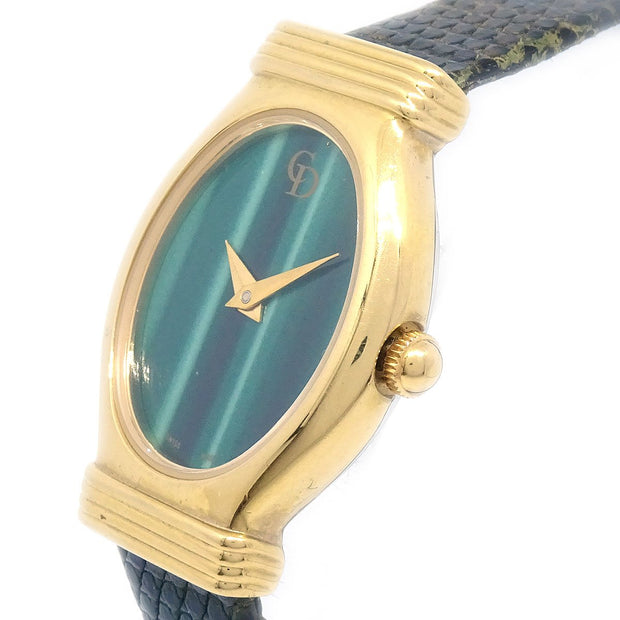 Christian Dior 3009 Ladies Quartz Watch Gold plated Green