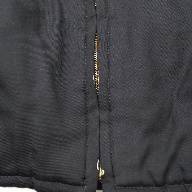 HERMES Zip-up Reversible Bomber Jacket #38 Black
