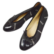 CHANEL Pumps Shoes Black #35