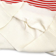 CHANEL #38 One Piece Dress Skirt Red White
