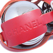 CHANEL Petanque Ball Det Silver Small Good