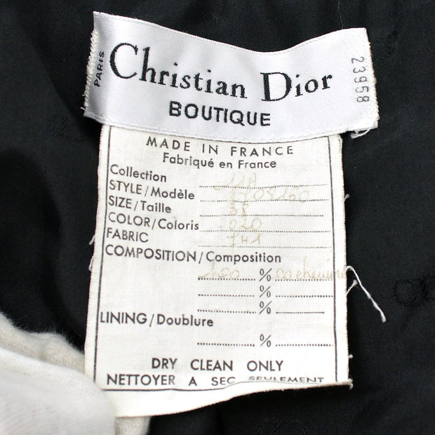 Christian Dior #38 Front opening Long Coat Black