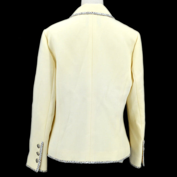 CHANEL 05C #42 Emblem Double Breasted Jacket Ivory