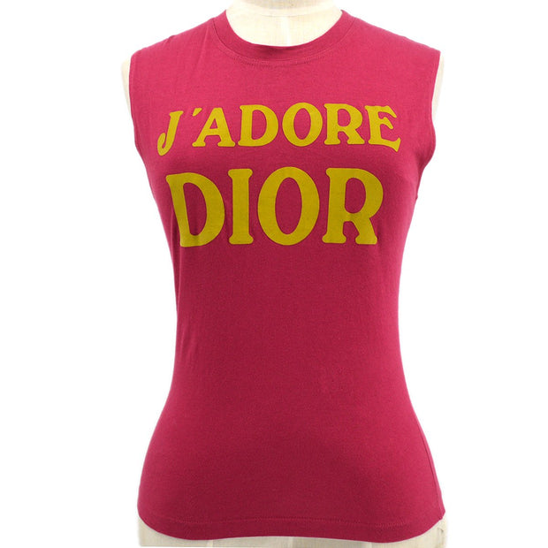 Christian Dior Sleeveless Shirt Tank Tops Pink
